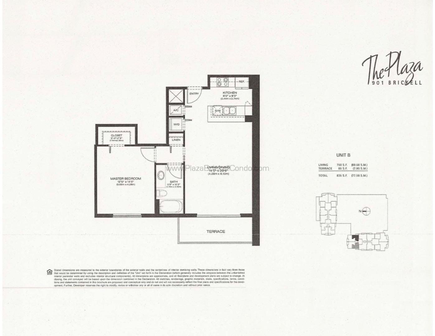 Floor plan image B - 1/1  - 750 sqft image