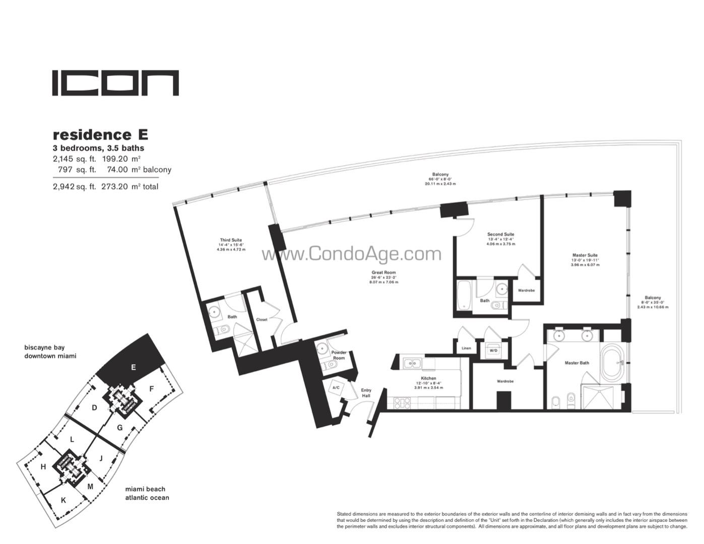 Floor plan image E - 3/3/1  - 2145 sqft image