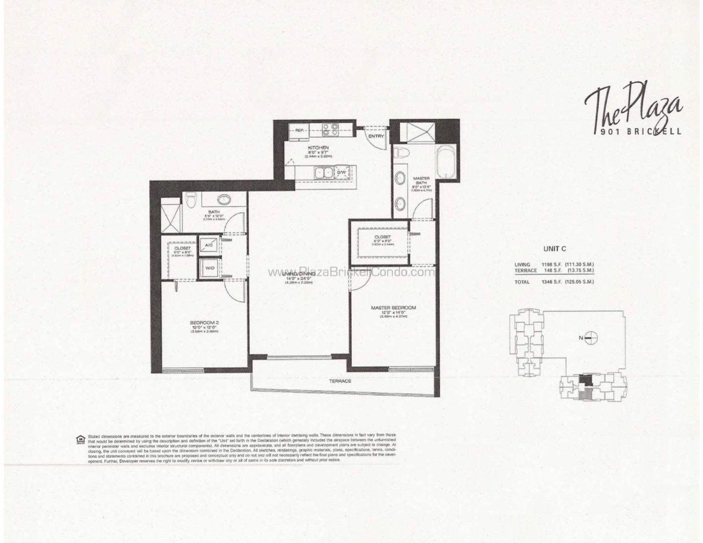 Floor plan image C - 2/2  - 1209 sqft image