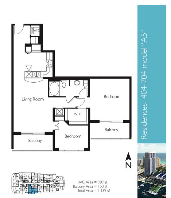 Floor plan image A5 - 2/1  - 989 sqft image