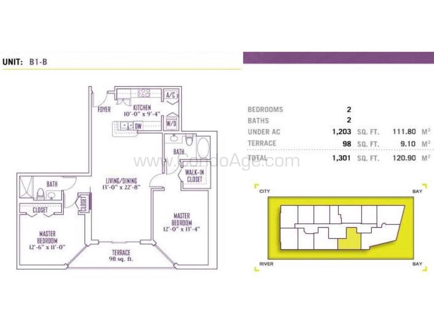 Floor plan image B1 - 2/2  - 1203 sqft image