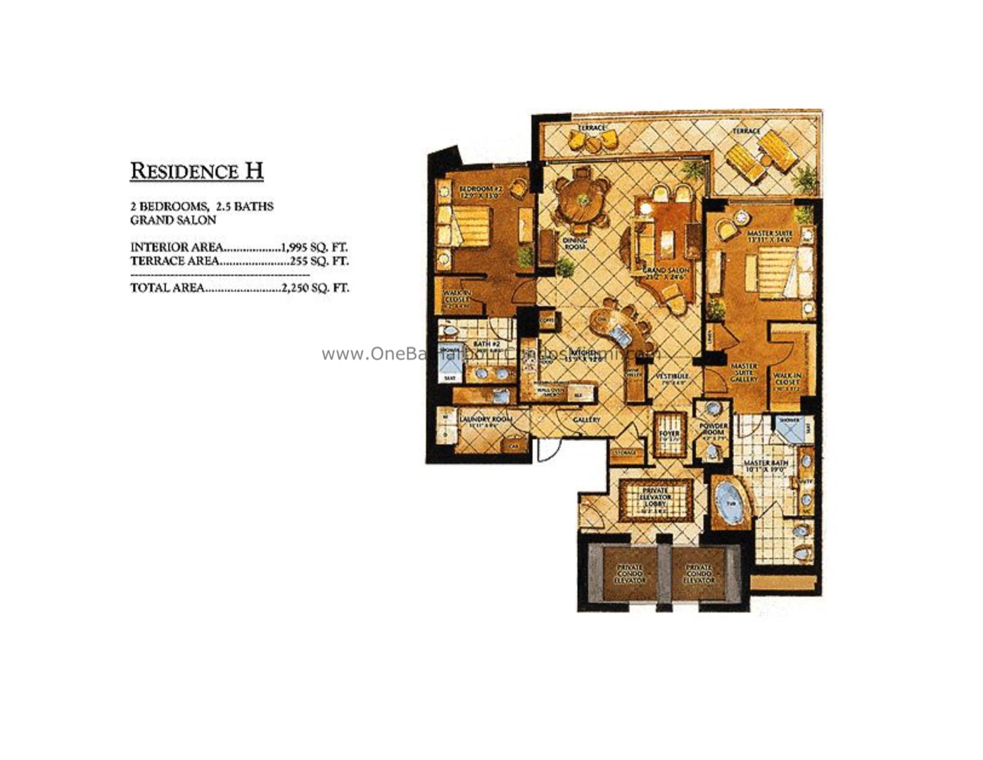 Floor plan image H - 2/2/1  - 1995 sqft image
